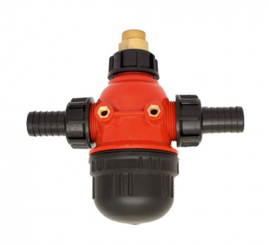 SUCTION FILTER WITH DOUBLE OUTLET